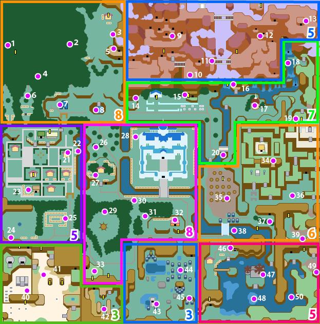 マイマイの場所の地図(ハイラル)